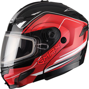 GMAX GM54S Terrain Black Red Modular Snowmobile Helmet w/ Sun Shield 2X-Large