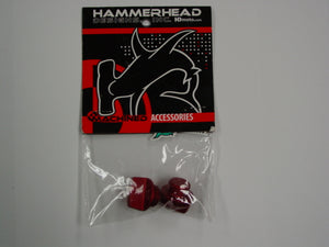 Hammerhead Designs Red Anodized Oil Filler Plugs Fits 2002 - 2008 Honda CRF450R