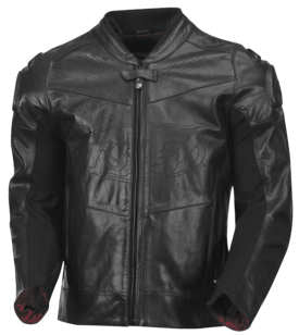 Roland Sands Mens Zuma Distressed Black Leather Motorcycle Riding Jacket X-Large