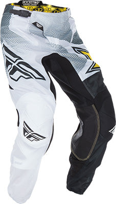 Fly Kinetic Mesh Rockstar ATV Motocross Offroad Race Pant White Black Size 36