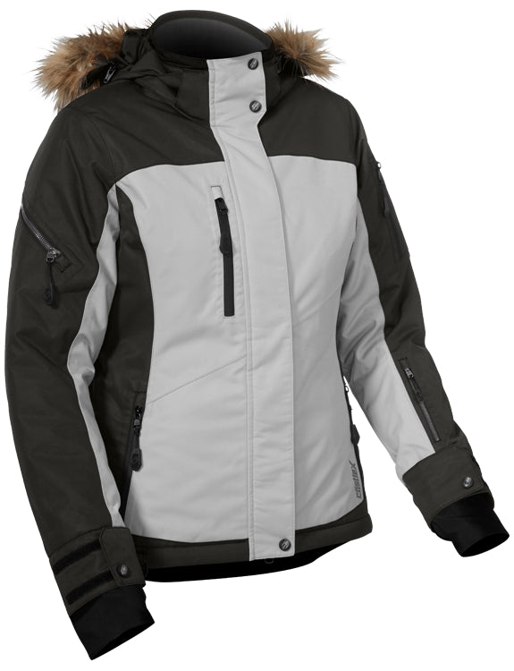 Castle X Women's Tempest Snowmobile Winter Snow Jacket Licorice Black Gray Large