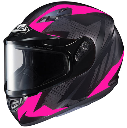 HJC CS-R3 Snow Treague Dual Pane Shield Snowmobile Riding Helmet Pink Large