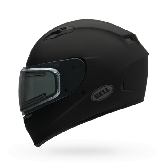 Bell Snow Qualifier Flat Black Dual Lens Shield Snowmobile Riding Helmet Large