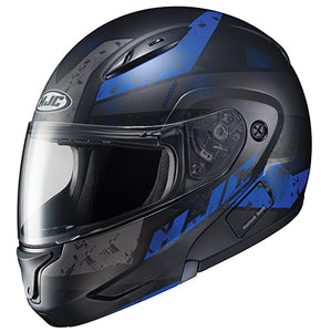 HJC CL-MAX 2 Friction Modular Street Motorcycle Riding Helmet Black Blue X-Large