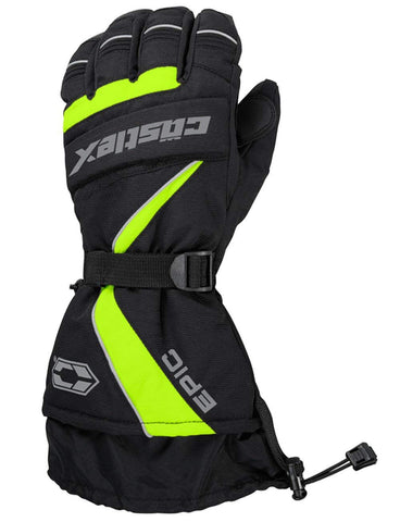 Castle X Epic Waterproof Insulated Snowmobile Winter Snow Glove Hi-Vis Large