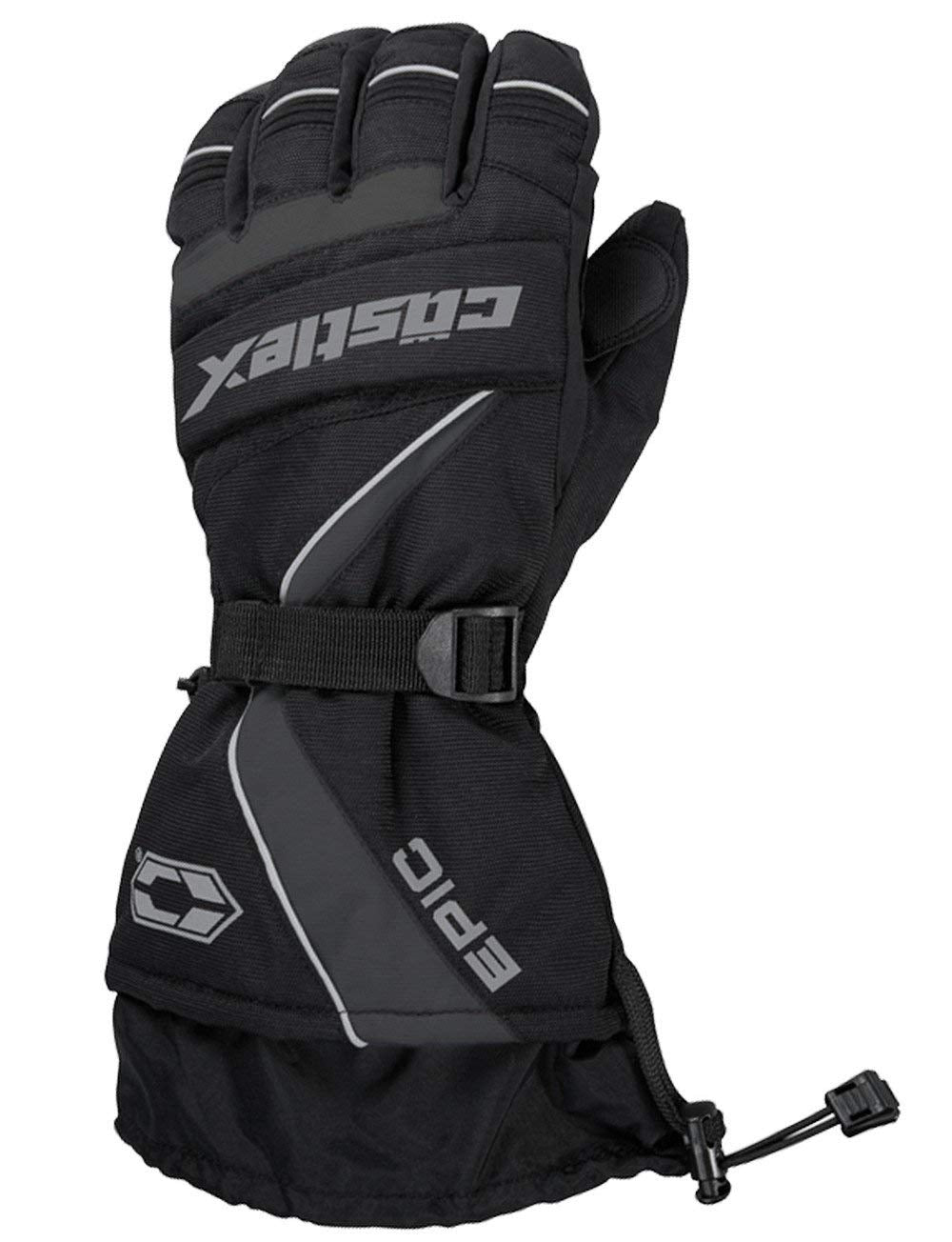 Castle X Epic Waterproof Insulated Snowmobile Winter Snow Glove Black X-Large