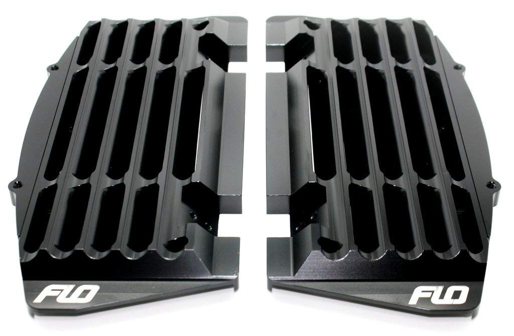 Flo Motorsports FLO-751 Black KTM Husqvarna Aluminum High Flow Radiator Guards