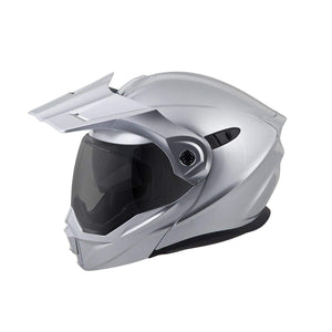Scorpion EXO-AT950 Silver Modular Dual Sport Adventure Motorcycle Helmet Large