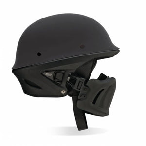 Bell Rogue Flat Matte Black Motorcycle Riding Half Helmet w/ Face Mask Small