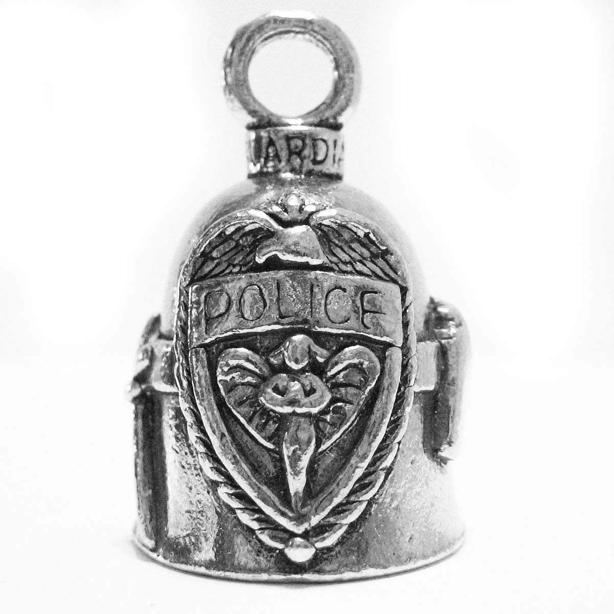 Guardian Bell Police Protect & Serve Motorcycle Biker Ride Luck Bell Key Ring