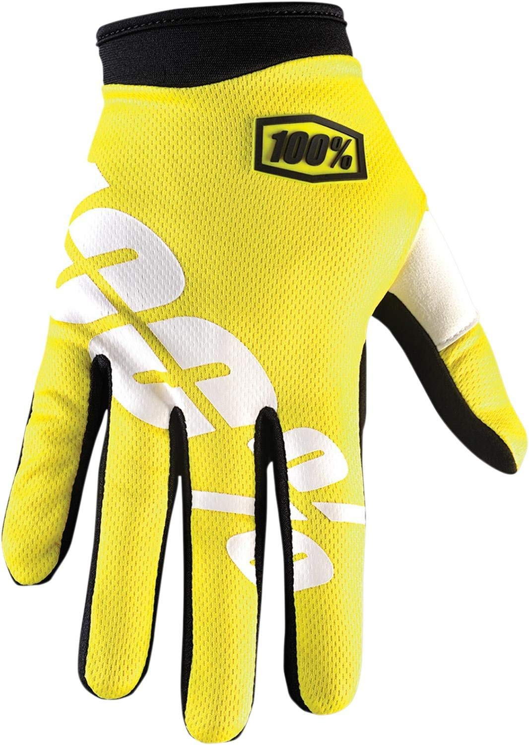 100% iTrack Yellow MX Motocross Offroad Motorcycle Riding Glove Adult X-Large