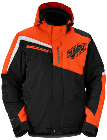 Castle X Phase Orange Waterproof Insulated Snowmobile Snow Jacket Men's Large