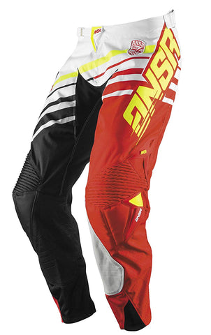 Answer A17 Alpha White Red MX Motocross Offroad Gear Riding Race Pants Size 32