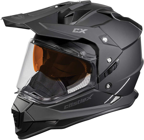 Castle X Mode Dual Sport Adventure Snowmobile Riding Helmet Matte Black 3X-Large