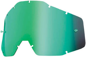 100% Youth Kid's Accuri & Strata MX Offroad Goggle Replacement Lens Green Mirror