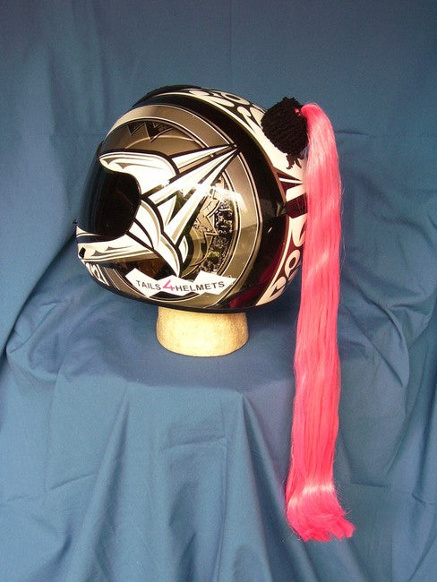Ladies & Girl's Helmet Ponytail - Pink