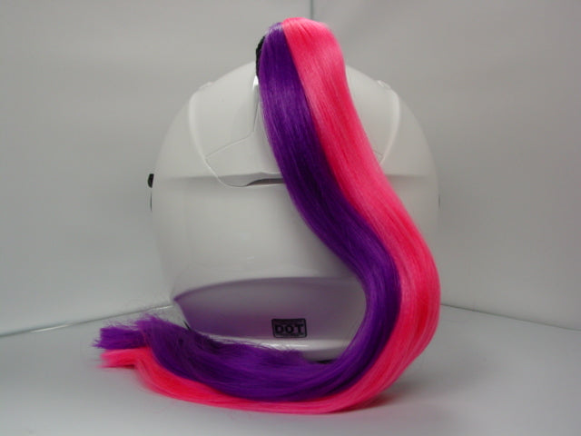 Ladies & Girl's 2-Color Helmet Ponytail - Pink & Purple