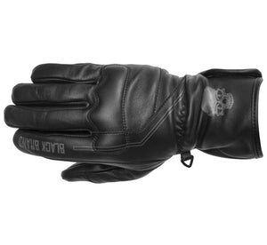 Black Brand Pinstripe Gauntlet Leather Motorcycle Riding Touring Gloves X-Large
