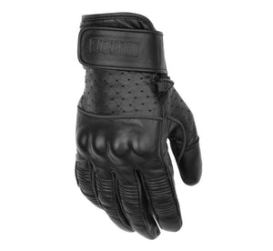 Black Brand Mens Protector Hard Knuckle Leather Motorcycle Gloves Black 2X-Large