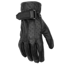Black Brand Women's Breathe Perforated Leather Street Motorcycle Gloves Small