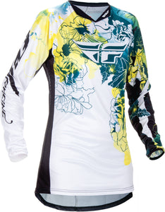 Fly Girls Kinetic Teal White ATV MX Motocross Offroad Riding Jersey Youth Small