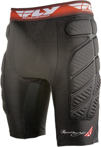 Fly Racing Men's MX Motocross Motorcycle Riding Compression Short Black X-Large
