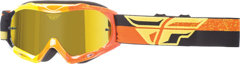 Fly Racing Youth Kid's Zone Composite MX Motocross Offroad Goggle Yellow Orange