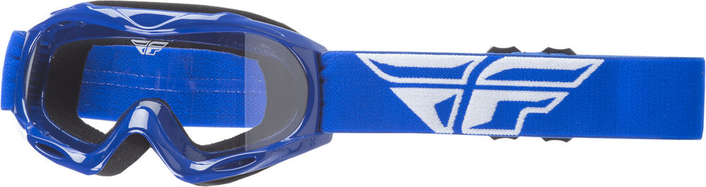 2018 Fly Racing Focus Youth Kid's ATV MX Motocross Offroad Dirt Bike Goggle Blue