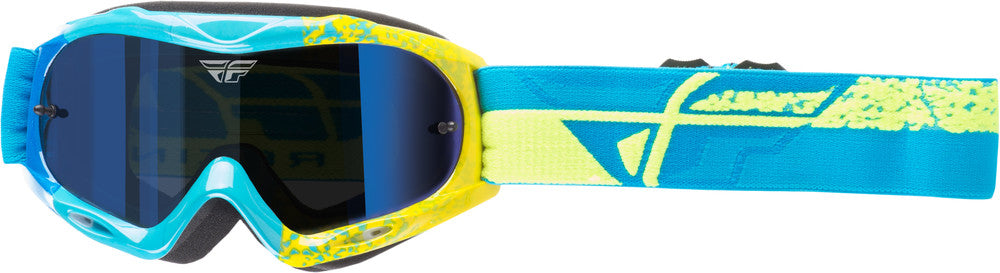 Fly Racing Adult Zone Composite MX Motocross Offroad Riding Goggle Blue Yellow