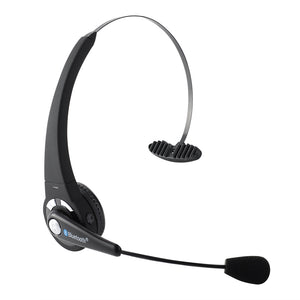 Wireless Bluetooth Headphone Flexible Boom Mic Trucker Over the Head Handsfree Noise Cancellation - Trendy Emotions