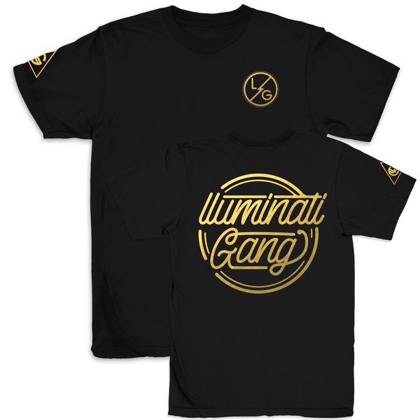 llUMINATI GANG Gold Edition T shirt