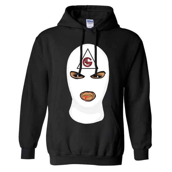 LLUMINATI GANG Hoodie Black and White