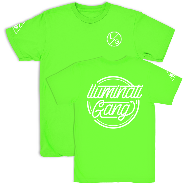 llUMINATI GANG Lime Green T shirt