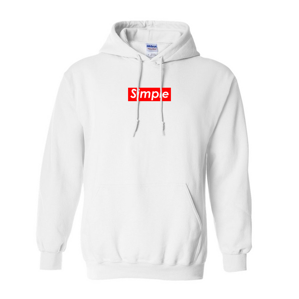 Simple White Hoodie | Solluminaticlothing.com