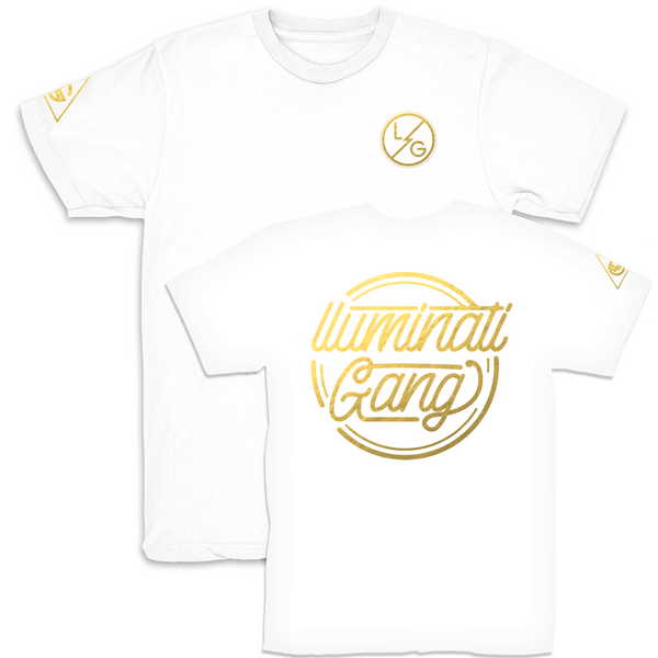 llUMINATI GANG Limited Edition White T shirt