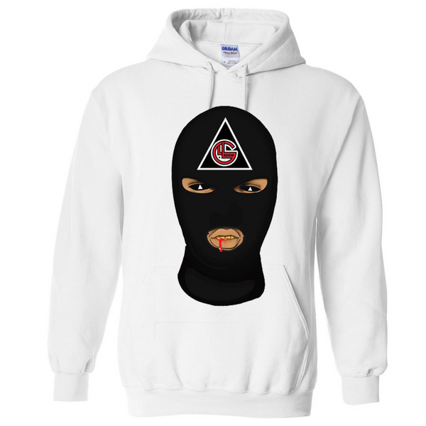 LLUMINATI GANG Hoodie White and Black