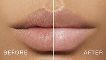 before and after of product on model. This lightweight, velvety cream instantly airbrushes lip-lines using ultra filling spheres and irritant-free plumping Maxi-Lip making lips look smooth and full