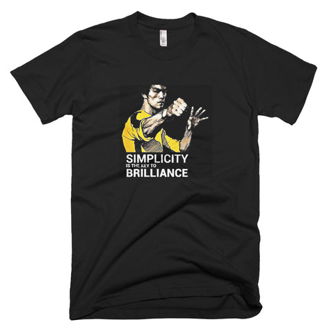 Simplicity is the key to brilliance Bruce Lee Quote Unisex T Shirt - TimeForClothes