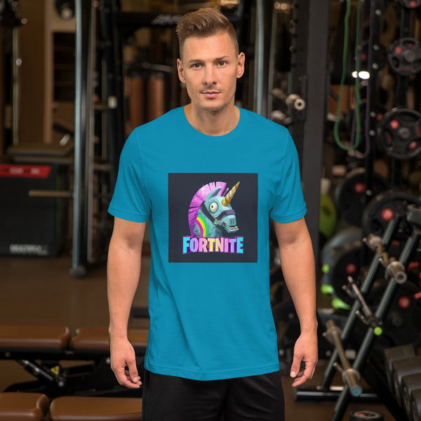 Fortnite Unicorn Colorful Mens T shirt - TimeForClothes