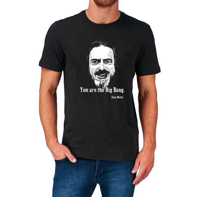 Alan Watts - You Are The Big Bang | Mens T Shirt - TimeForClothes