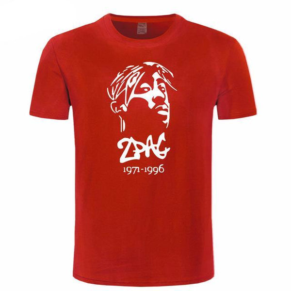 Tupac Shakur Rap Legend Mens T Shirt Short Sleeve - TimeForClothes