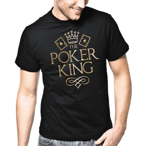 The Poker King Texas Hold Em Pro Mens T Shirt - TimeForClothes