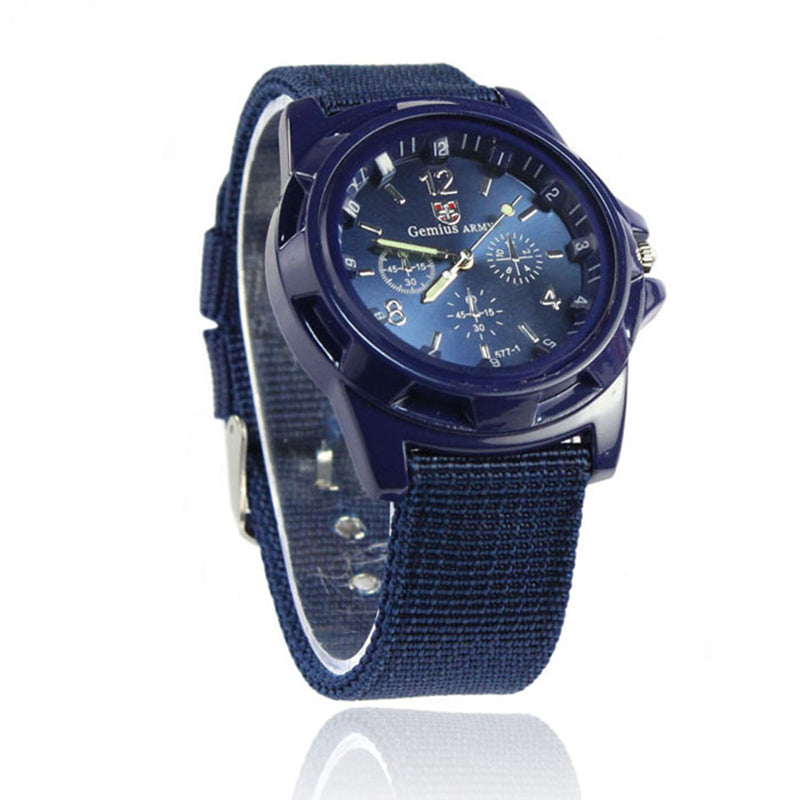 Mens Sports Slick Quartz Wrist Watch - TimeForClothes