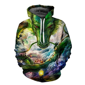 Imperial Dragon 3D Unisex Hoodie - TimeForClothes