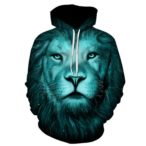Elemental Lion 3D Hoodie For Men & Women - TimeForClothes