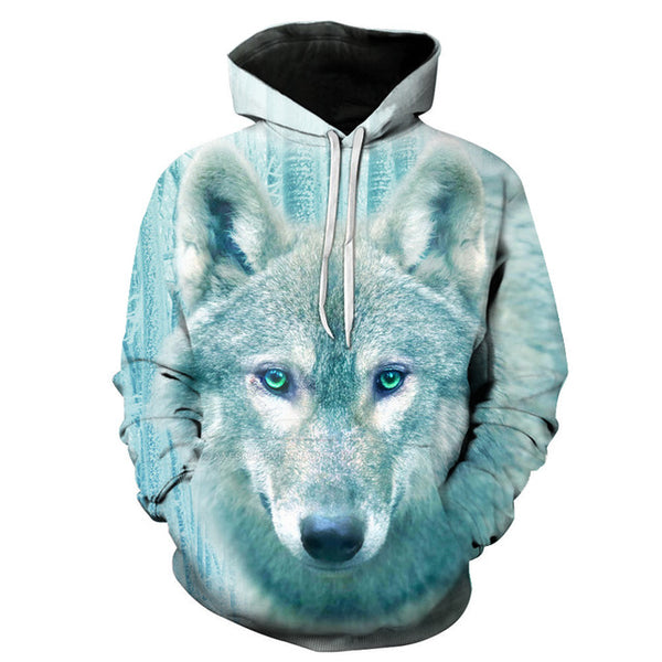 Winter Ice Wolf 3D Printed Hoodie For Men & Women - TimeForClothes