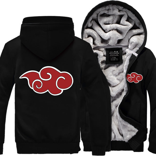 Naruto Thick Fleece Mens Jacket - TimeForClothes