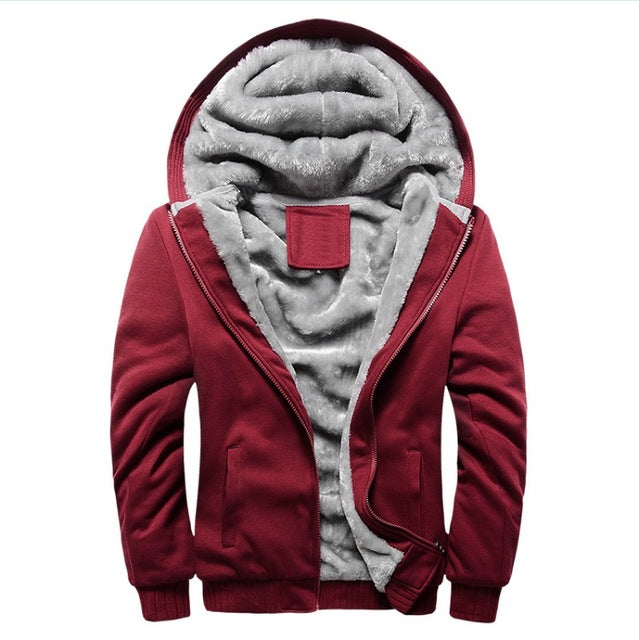 Mens Thick Fur Stylish Luxury Winter Hooded Jacket - TimeForClothes