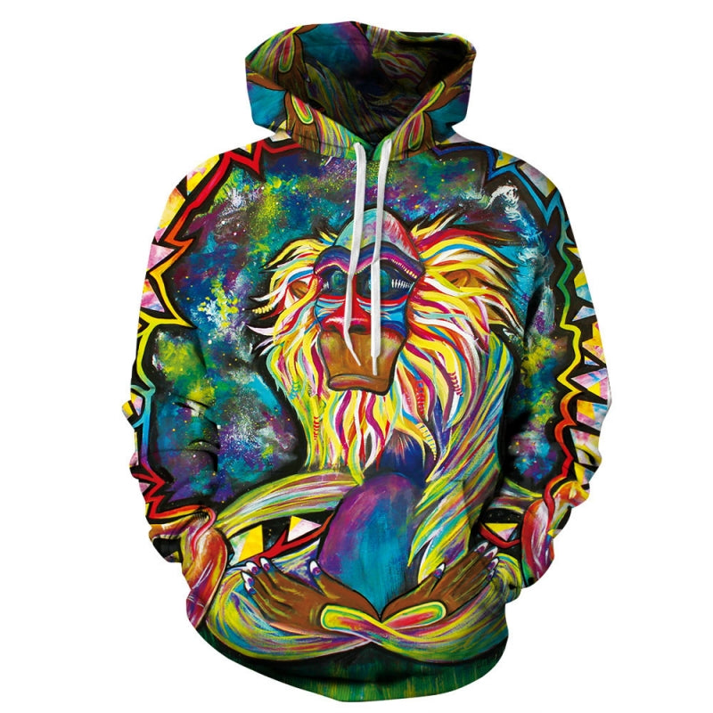 Peaceful Buddha Monkey 3D Full Printed Unisex Hoodie - TimeForClothes