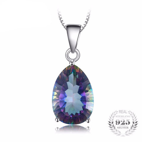 4ct Genuine Multicolor Rainbow Fire Mystic Topaz Pendant - TimeForClothes